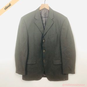 [Missoni] Green Herringbone Blazer Suit Jacket